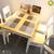Bộ bàn ăn 4 ghế Cherry gỗ cao su nhiều màu 1m2- đẹp, giá rẻ tại hcm và hà nội