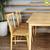 Bộ bàn ăn 6 ghế Requin màu tự nhiên 1m6- đẹp, giá rẻ tại hcm và hà nội