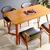 Bộ bàn ăn 4 ghế Kai màu tự nhiên 1m2- đẹp, giá rẻ tại hcm và hà nội