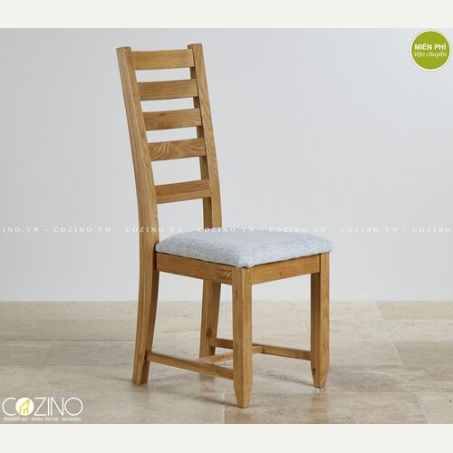 Ghế bàn ăn Holy gỗ sồi nệm vải trắng xám tại hồ chí minh