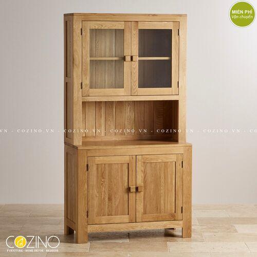 Tủ bếp trưng bày 2 cánh Capri gỗ sồi tại hà nội