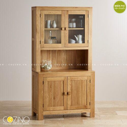 Tủ bếp trưng bày 2 cánh Capri gỗ sồi xuất khẩu, đẹp, giá rẻ