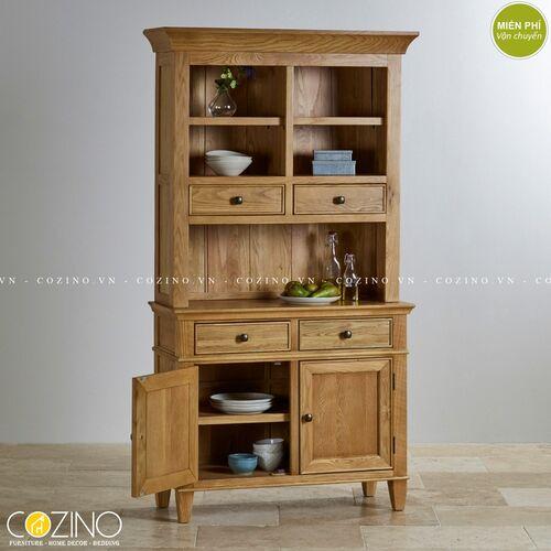 Tủ lưu trữ đa năng cao Holy gỗ sồi 1m đẹp giá rẻ