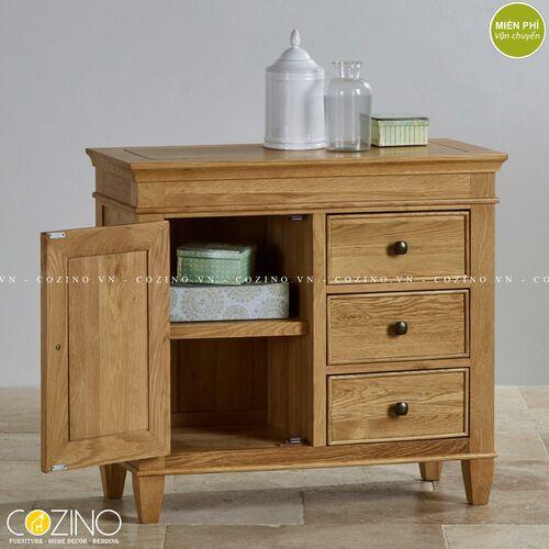 Tủ lưu trữ đa năng Holy 1 cánh 3 ngăn gỗ sồi đẹp giá rẻ