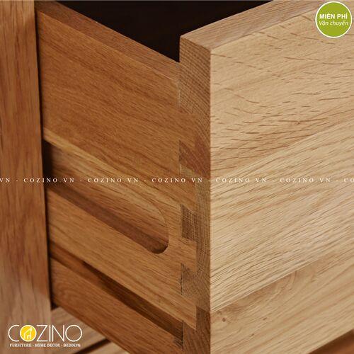 Tủ lưu trữ đa năng cao Capri gỗ sồi 1m4 xuất khẩu