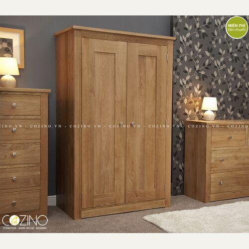 Tủ quần áo hai cánh Torino gỗ sồi đẹp giá rẻ