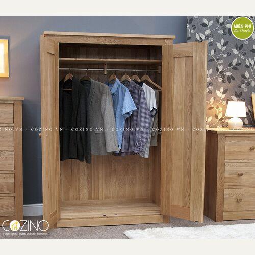 Tủ quần áo hai cánh Torino gỗ sồi tại hồ chí minh và hà nội