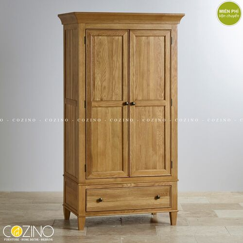 Tủ quần áo Holy 2 cánh 1 ngăn kéo gỗ sồi đẹp giá rẻ