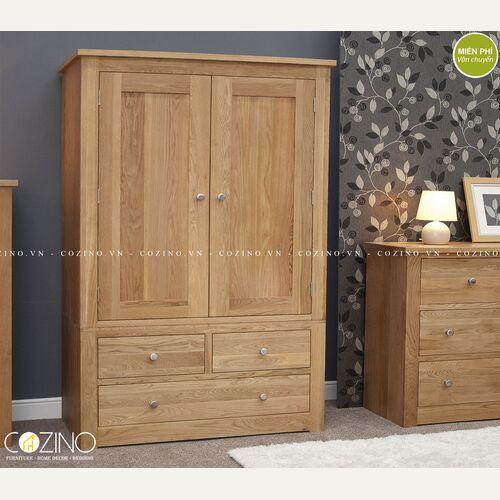 Tủ quần áo 2 cánh mở 3 ngăn kéo Torino gỗ sồi tại hồ chí minh