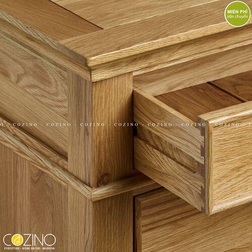 Tủ đầu giường Holy 1 ngăn kéo gỗ sồi xuất khẩu