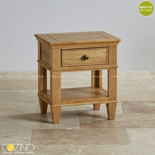 Tủ đầu giường Holy 1 ngăn kéo gỗ sồi xuất khẩu tại Hồ chí minh