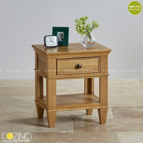 Tủ đầu giường Holy 1 ngăn kéo gỗ sồi xuất khẩu đẹp giá rẻ