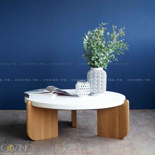 Bàn sofa, bàn trà Native mặt đá Terrazzo- đẹp, giá rẻ tại hcm và hà nội