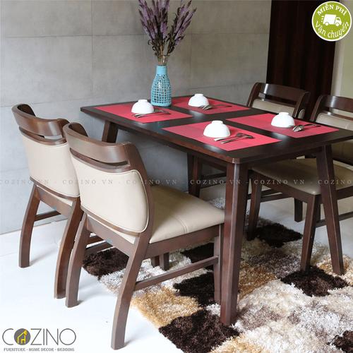 Bộ bàn ăn 4 ghế Ashley bằng gỗ nhiều màu 1m2- đẹp, giá rẻ tại hcm và hà nội