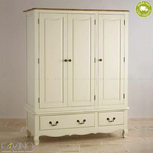 Tủ quần áo Skye 3 cánh 2 ngăn kéo gỗ sồi 1m4- đẹp, giá rẻ tại hcm và hà nội
