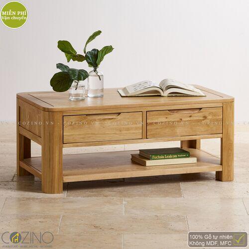 Bàn sofa, bàn trà Emley gỗ sồi Mỹ- đẹp, giá rẻ tại hcm và hà nội