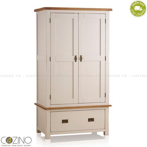 Tủ quần áo Sintra 2 cánh 1 ngăn kéo gỗ sồi Mỹ- đẹp, giá rẻ tại hcm và hà nội