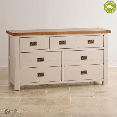 Tủ 7 ngăn kéo 3 tầng Sintra gỗ sồi Mỹ- đẹp, giá rẻ tại hcm và hà nội