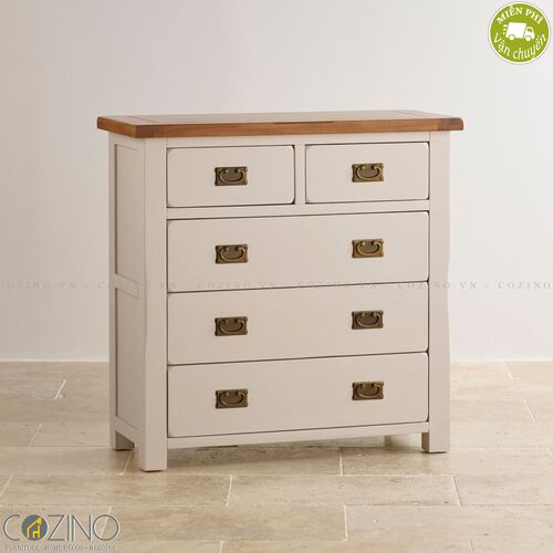 Tủ 5 ngăn kéo 4 tầng Sintra gỗ sồi Mỹ- đẹp, giá rẻ tại hcm và hà nội