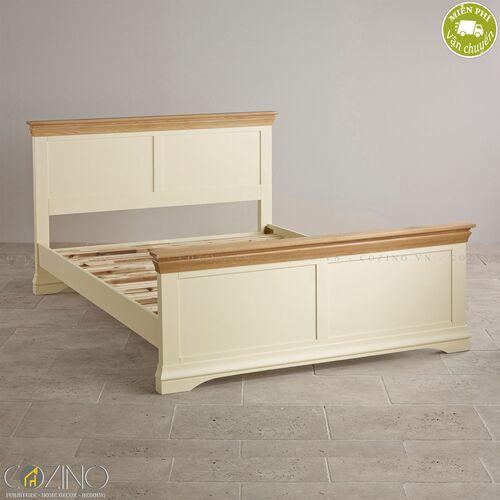 Giường Canary gỗ sồi Mỹ (nhiều kích thước)- đẹp, giá rẻ tại hcm và hà nội