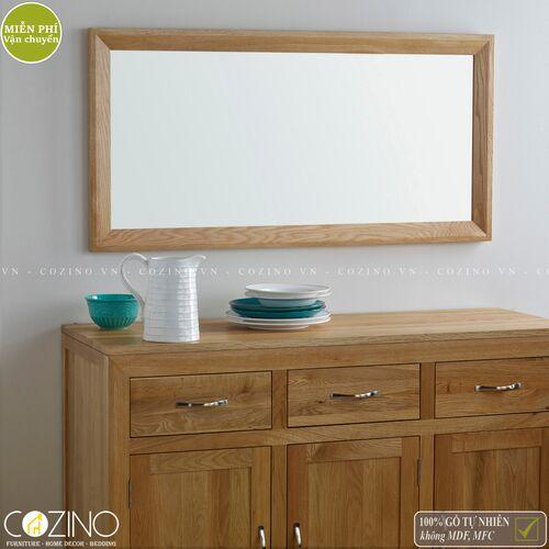 Gương treo tường Camber khung gỗ sồi Mỹ- đẹp, giá rẻ tại hcm và hà nội