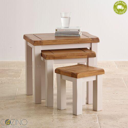 Bộ bàn xếp lồng Sintra 100% gỗ sồi Mỹ- đẹp, giá rẻ tại hcm và hà nội