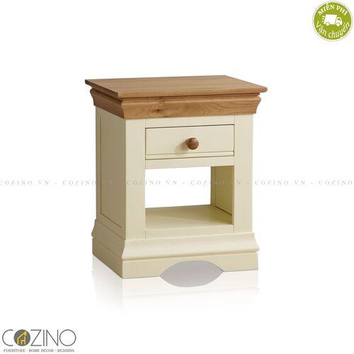 Tủ đầu giường Canary 1 ngăn gỗ sồi Mỹ- đẹp, giá rẻ tại hcm và hà nội