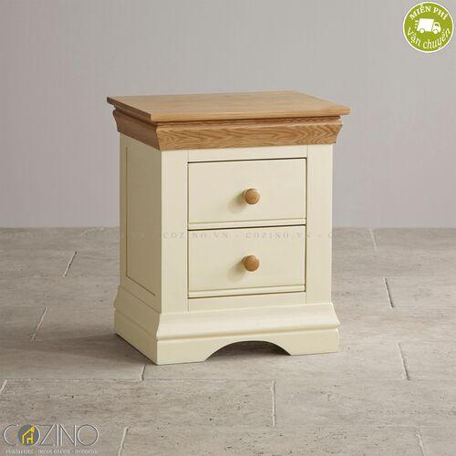 Tủ đầu giường 2 ngăn Canary  gỗ sồi Mỹ- đẹp, giá rẻ tại hcm và hà nội