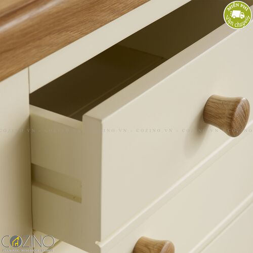Tủ 5 ngăn kéo 4 tầng Canary gỗ sồi Mỹ- đẹp, giá rẻ tại hcm và hà nội