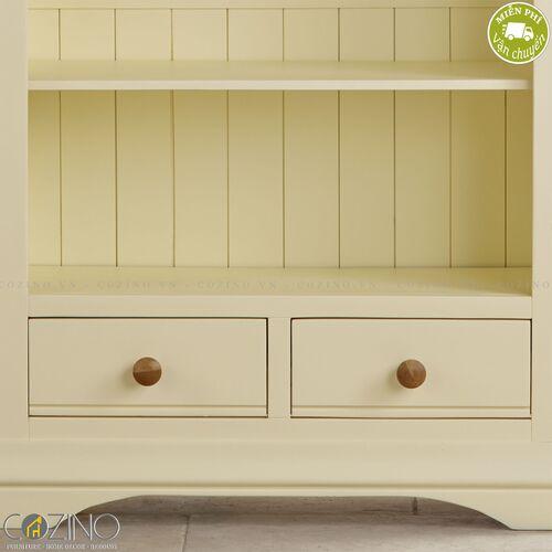 Tủ kệ sách và trưng bày cao Canary gỗ sồi Mỹ- đẹp, giá rẻ tại hcm và hà nội