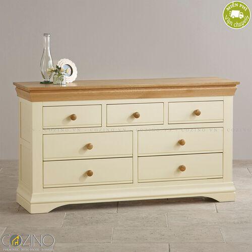 Tủ 7 ngăn kéo 3 tầng Canary gỗ sồi Mỹ- đẹp, giá rẻ tại hcm và hà nội
