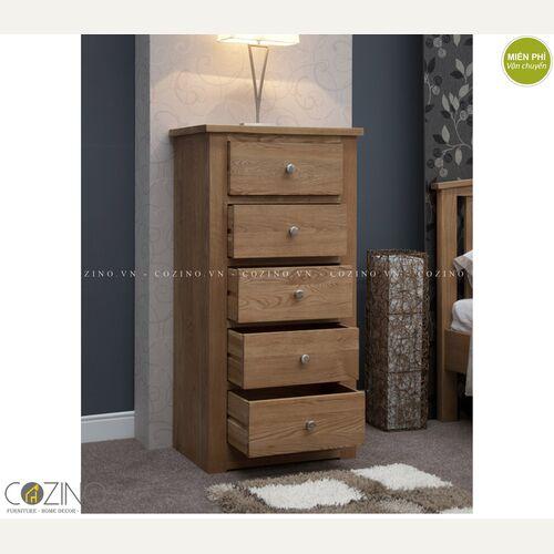 Tủ 5 ngăn kéo 5 tầng Torino gỗ sồi Mỹ- đẹp, giá rẻ tại hcm và hà nội