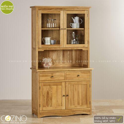 Tủ bếp Cawood nhỏ gỗ sồi Mỹ- đẹp, giá rẻ tại hcm và hà nội