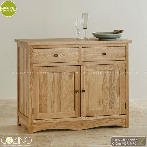 Tủ chén nhỏ Cawood gỗ sồi Mỹ- đẹp, giá rẻ tại hcm và hà nội