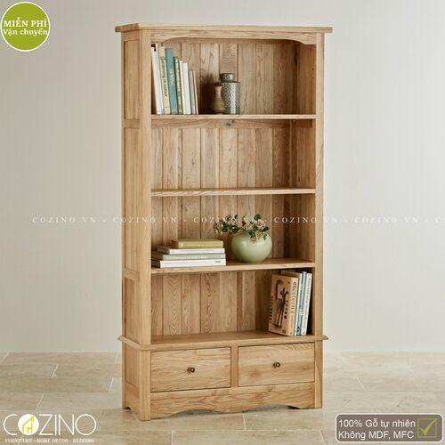 Tủ kệ sách và trưng bày cao Cawood gỗ sồi Mỹ- đẹp, giá rẻ tại hcm và hà nội