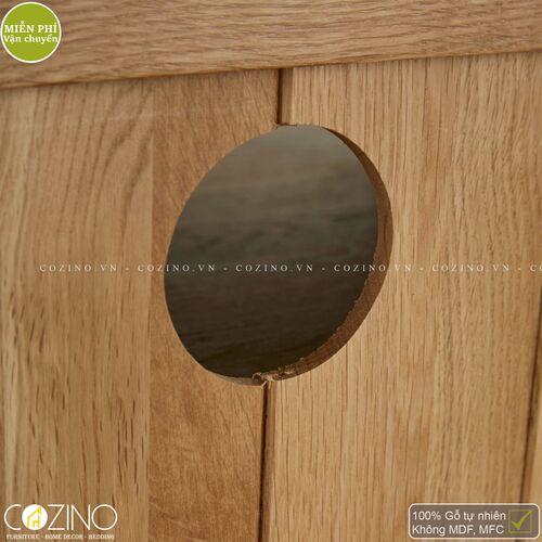 Tủ tivi góc Cawood gỗ sồi Mỹ- đẹp, giá rẻ tại hcm và hà nội
