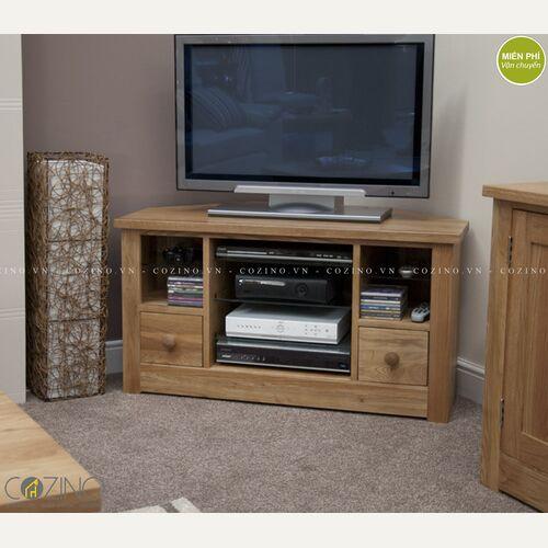 Tủ tivi góc Torino gỗ sồi Mỹ- đẹp, giá rẻ tại hcm và hà nội
