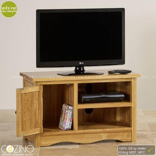Tủ tivi nhỏ Cawood gỗ sồi Mỹ- đẹp, giá rẻ tại hcm và hà nội