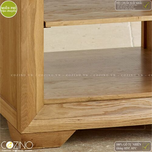 Bàn đặt góc, kệ đầu giường Camber gỗ sồi Mỹ- đẹp, giá rẻ tại hcm và hà nội