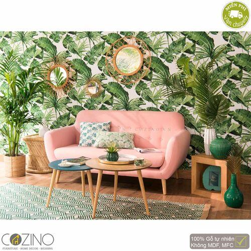 Bộ bàn sofa Senja 3 chiếc xếp chồng gỗ tự nhiên (nhiều màu)- đẹp, giá rẻ tại hcm và hà nội