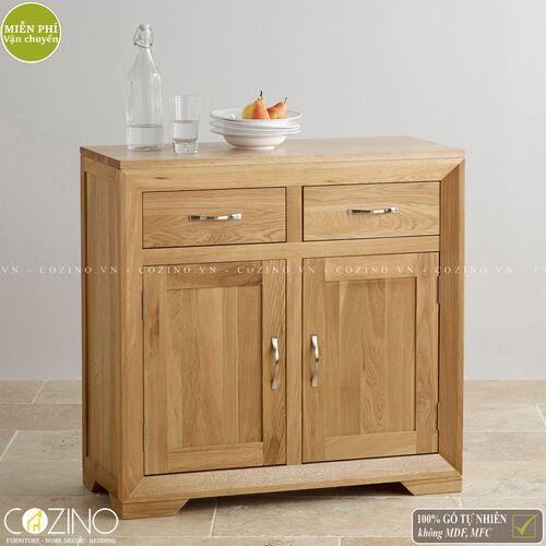 Tủ chén đĩa nhỏ Camber 2 cánh gỗ sồi Mỹ- đẹp, giá rẻ tại hcm và hà nội