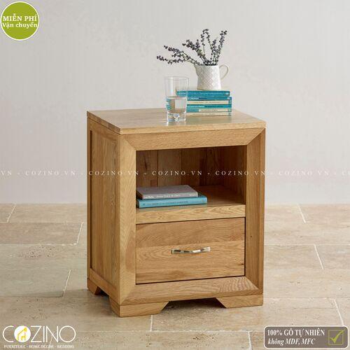 Tủ đầu giường 1 ngăn Camber gỗ sồi Mỹ- đẹp, giá rẻ tại hcm và hà nội