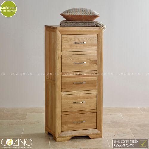 Tủ 5 ngăn kéo 5 tầng Camber gỗ sồi Mỹ- đẹp, giá rẻ tại hcm và hà nội
