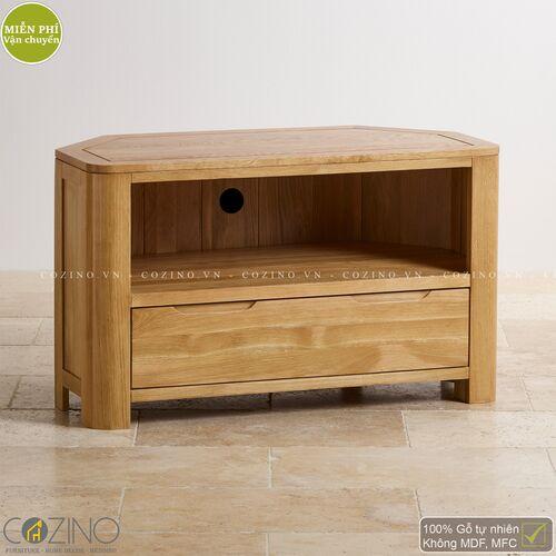 Tủ tivi góc Emley gỗ sồi Mỹ- đẹp, giá rẻ tại hcm và hà nội