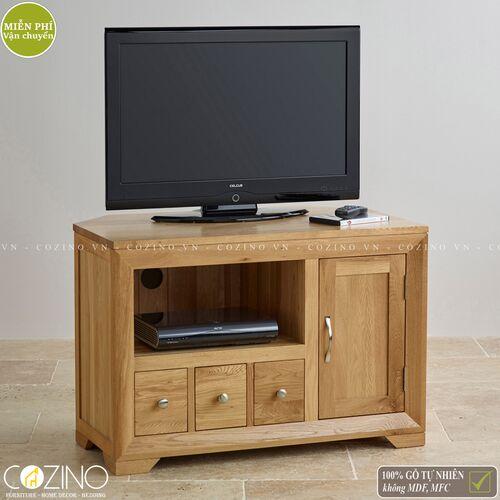 Tủ tivi góc Camber gỗ sồi Mỹ- đẹp, giá rẻ tại hcm và hà nội