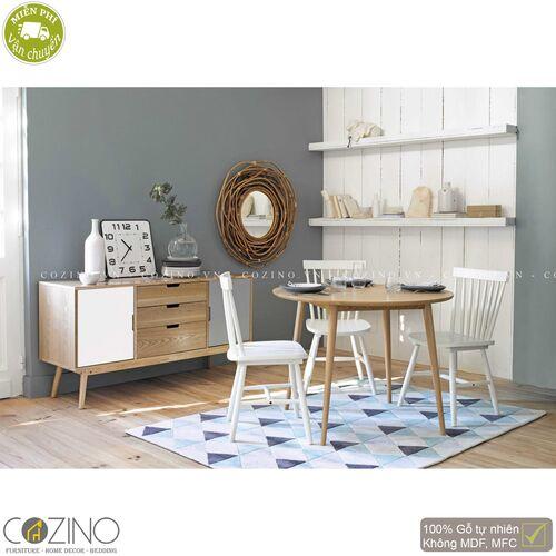 Tủ trưng bày lưu trữ SENJA gỗ tự nhiên  3 ngăn 2 cánh trắng-xám- đẹp, giá rẻ tại hcm và hà nội