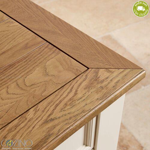 Bàn làm việc Chillon có 1 tủ hông gỗ sồi Mỹ- đẹp, giá rẻ tại hcm và hà nội