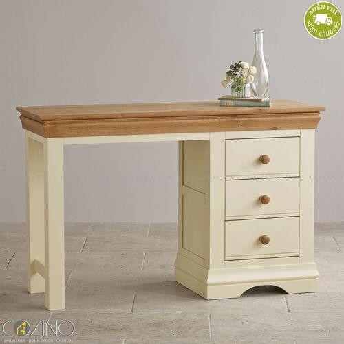 Bàn làm việc Canary có 1 tủ hông gỗ sồi Mỹ- đẹp, giá rẻ tại hcm và hà nội