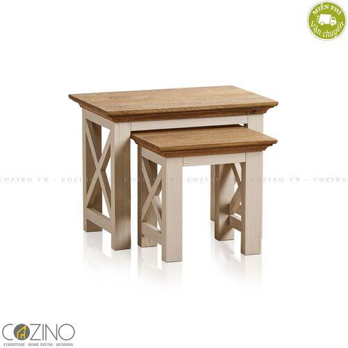 Bộ bàn xếp lồng Sark 100% gỗ sồi Mỹ- đẹp, giá rẻ tại hcm và hà nội