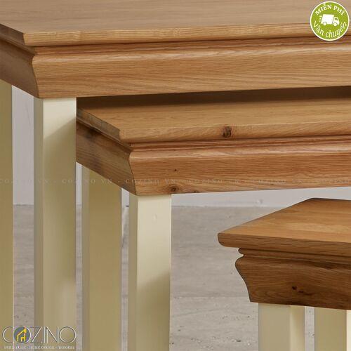 Bộ bàn xếp lồng Canary 100% gỗ sồi Mỹ- đẹp, giá rẻ tại hcm và hà nội